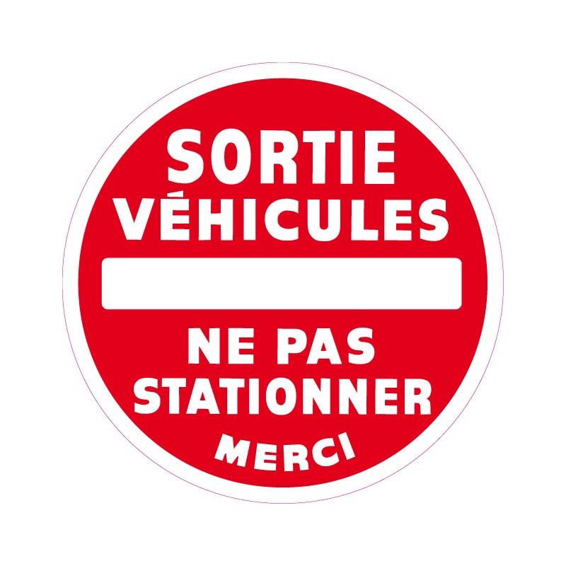 sortie véhicules ne pas stationner