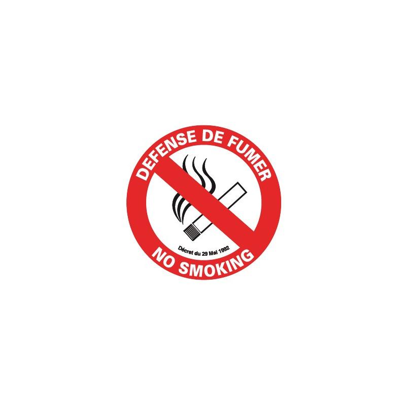 défense de fumer fr/ang