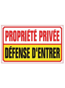 propriété privée défense d'entrer