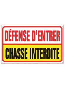 défense d'entrer chasse interdite