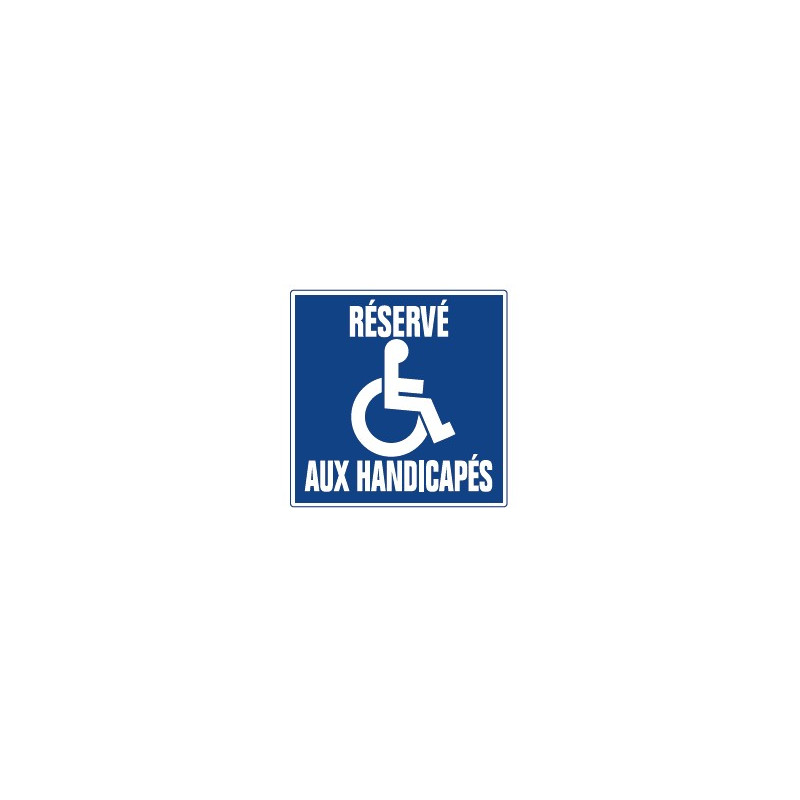 réservé aux handicapés